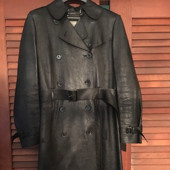 hot-selling genuine world-wide free shipping new varieties Burberry leather trench coat